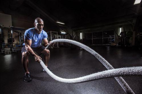 Bài Cardio cường độ cao Battle Ropes