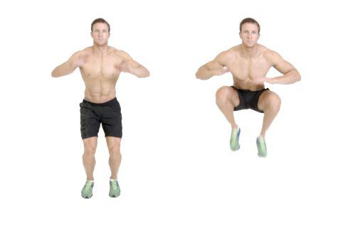 Động tác nhảy cao gối Tuck Jump