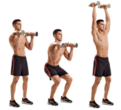 Động tác Dumbbell Push Press