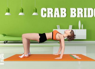 Tập cho mông to hơn, sexy hơn với Crab Bridge