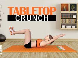 Hướng dẫn cách tập gập bụng co gối Tabletop Crunch