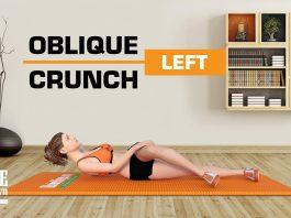 Bài tập gập bụng chéo chân tập cơ liên sườn