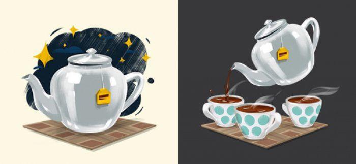 Nên uống trà ngay nên khi pha xong