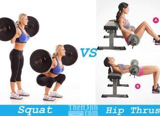 Squat vs Hip Thrust - Cách tăng vòng 3 tự nhiên nào nhanh nhất