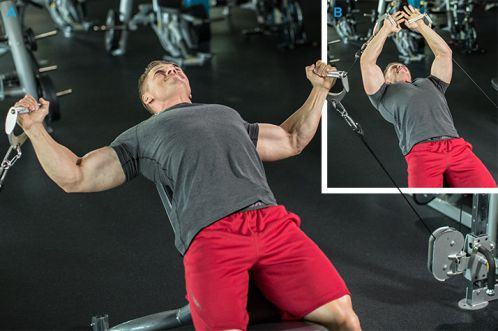 Bài tập kéo cáp tập cơ ngực cho to hơn