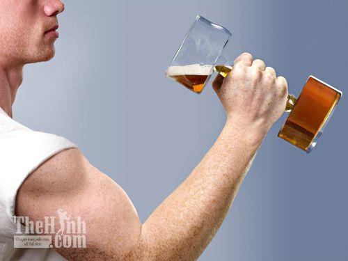 Đã tập gym thì không uống bia