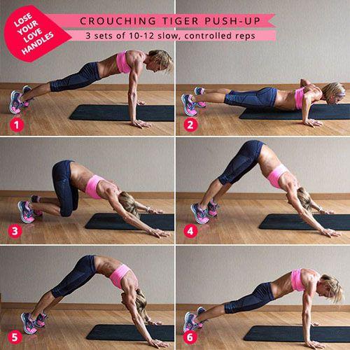 Crouching Tiger Push-Up - Hít đất kiểu sư tử duỗi người