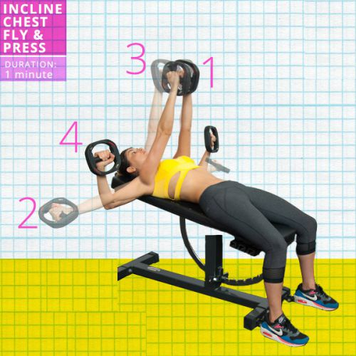 Incline Chest Fly Press