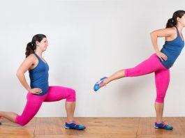 Động tác Lunge to Heel Raises