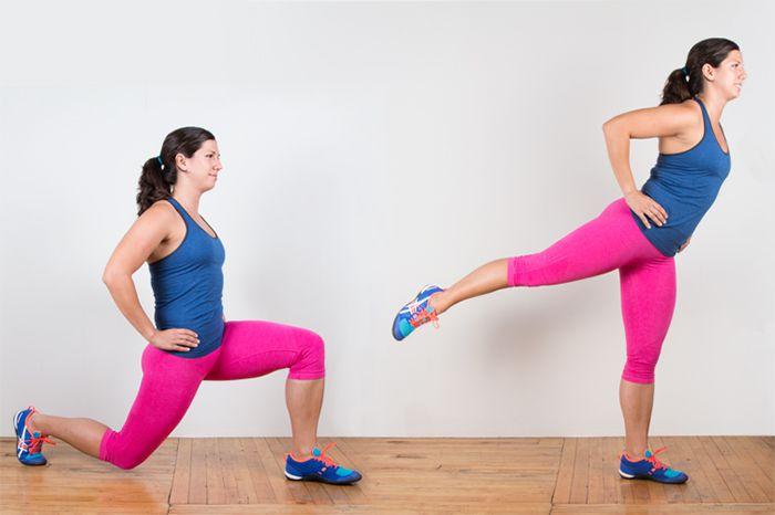 Động tác Lunge to Heel Raises cho bạn vòng 3 đẹp hoàn hảo hơn