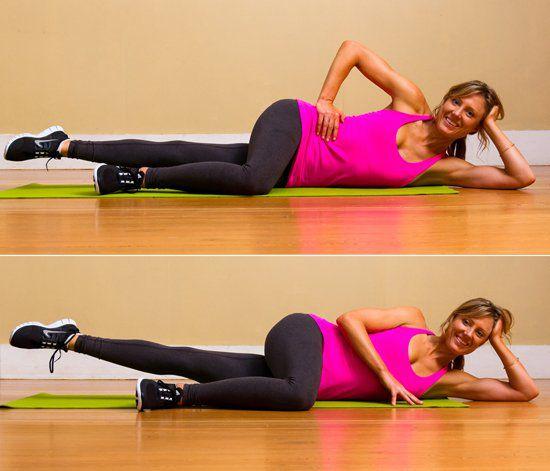 Bài tập Pilates nâng chân - Pilates Inner-Thigh Leg Lifts
