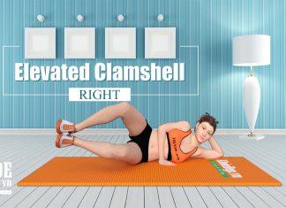 Bài tập cho vòng 3 gợi cảm với Elevated Clamshell