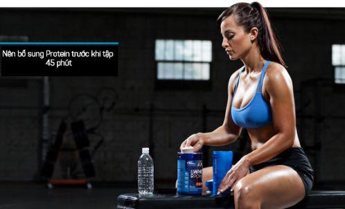 Bổ sung Protein trước khi tpaaj luyện sẽ giúp tăng cơ bắp tốt hơn