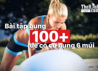 100 bài tập bụng trên bóng stability ball