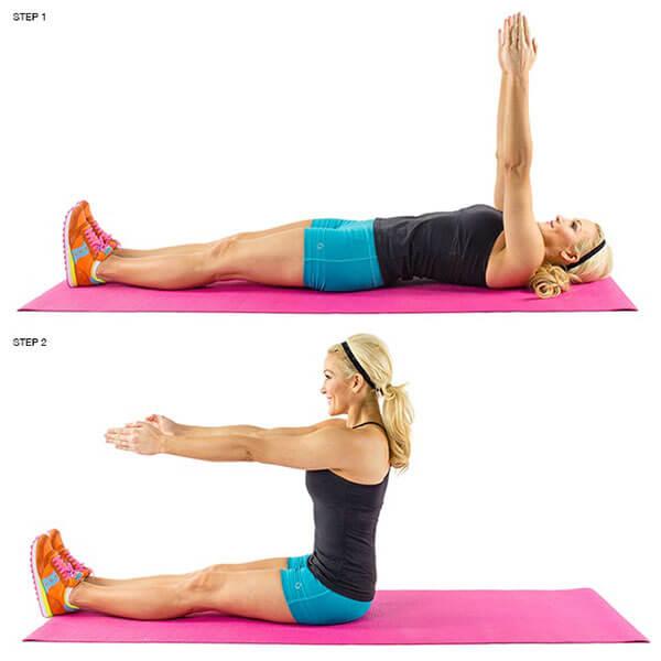 Pilates Sit Up - Gập bụng kiểu Pilates