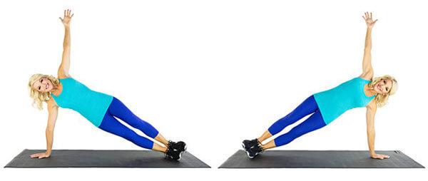 T Side Plank - Plank nghiêng chữ T