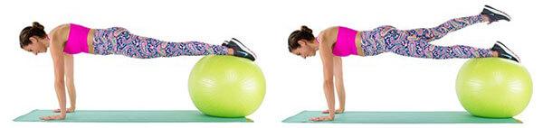 Stability Ball Plank - Plank trên bóng