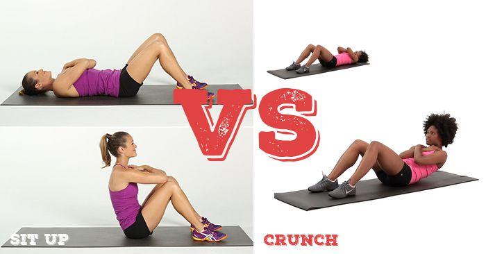 Phân biệt giữa 2 bài tập bụng Crunch và SIt Up