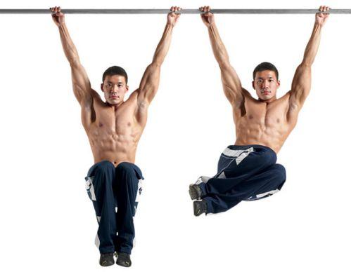 Hanging Oblique Knee Raise - Treo người gập bụng chéo