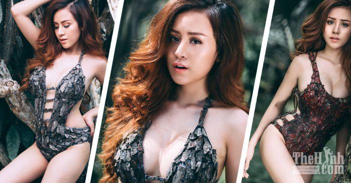 Bộ ảnh Bikini vỏ cây của bà Tưng Huyền Anh đốt mắt người xem