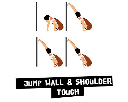 Jump Wall and Shoulder Touch - Bật nhảy chân lên tường