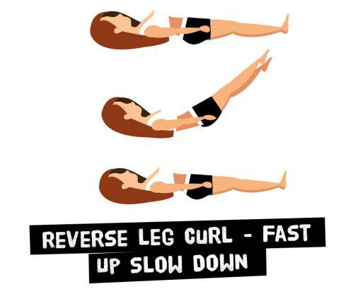 Gập bụng ngược, lên nhanh xuống chậm - Reverse Curl