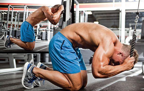 Các bài tập bụng trên máy tập bụng trong phòng tập gym