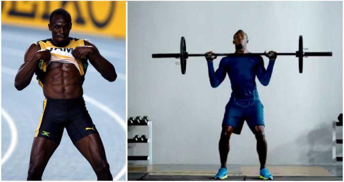 Tập thể hình với Usain Bolt