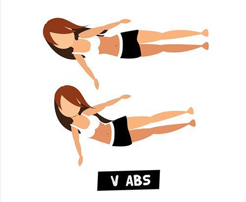 Gập bụng nghiêng - V Abs