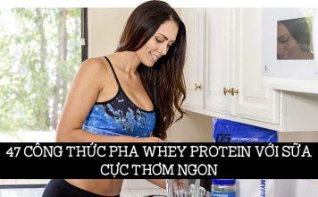 cách pha whey protein với sữa