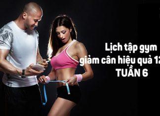 Lịch tập gym giảm mỡ tăng cơ hiệu quả trong 12 tuần - Tuần 6