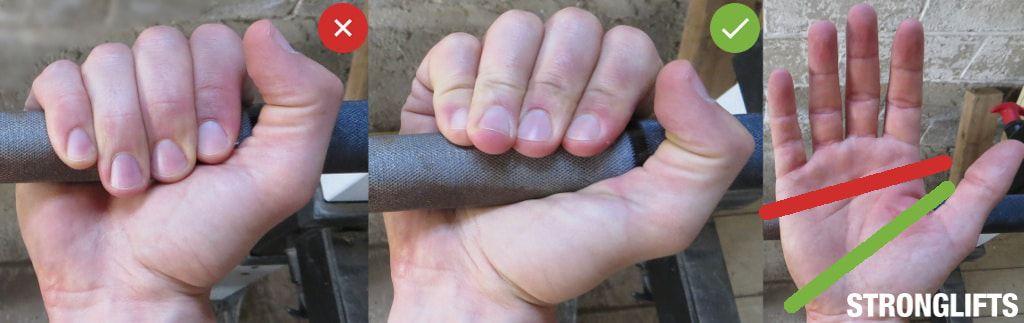 Cách nắm thanh đòn chính xác