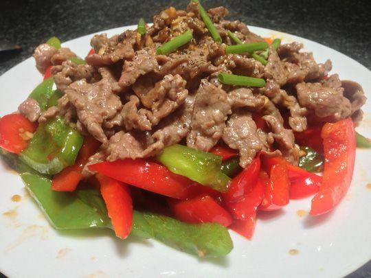 Công thức nấu ăn đơn giản ớt chuông xào thịt bò