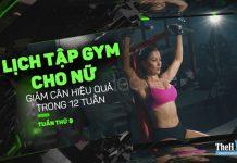 Lịch tập gym để giảm cân cho nữ 12 tuần hiệu quả - Tuần 9