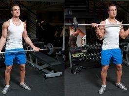 Wide-Grip Standing Barbell Curl - Đứng cuốn tạ tập tay trước rộng tay