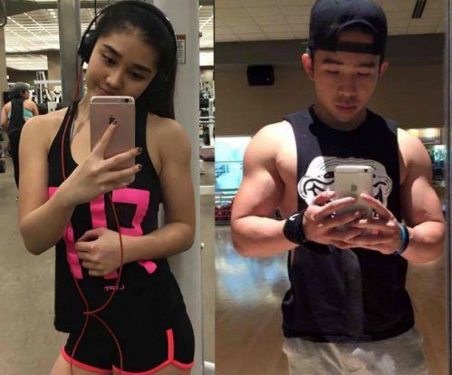 Cặp đôi tập gym sở hữu body hoàn hảo ai cũng phải mê
