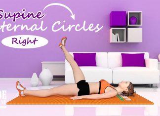 Supine Internal Circles - Bài tập chân giúp giảm mỡ đùi cho nữ