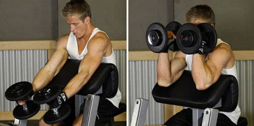 Alternating Hammer Grip Preacher Curl