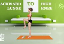 Backward Lunge to High Knee