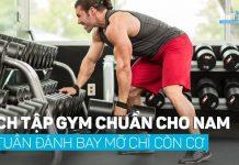 Lịch tập gym chuẩn cho nam trong 4 tuần