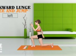 Backward Lunge Knee and Jump - Bài tập chân mông cho nữ tại nhà
