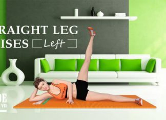 bài tập chân Straight Leg Raises
