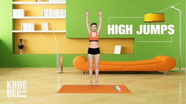 Cách đốt cháy 500 calo với bài tập chân High Jumps