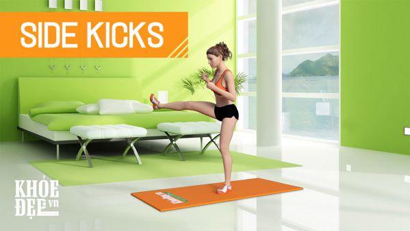 Bài tập chân Side Kicks cho đôi chân thon gọn mượt mà