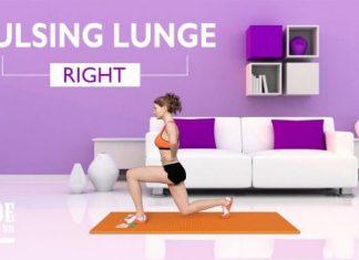 Tập chân thon dài tại nhà đẹp như sao Hàn với Pulsing Lunge