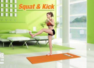 Squat Kick - Bài tập cho mông đẹp, lại còn giúp chống kẻ thù cho chị em