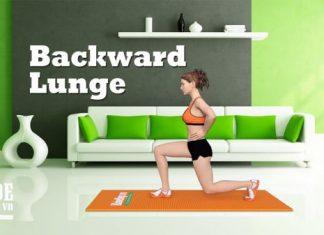 Bài tập làm mông săn chắc và căng tròn gợi cảm - Backward Lunge