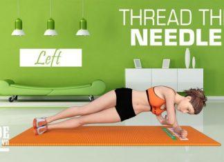 Bài tập thu gọn vòng 2 nhanh nhất cho chị em với Thread the Needle