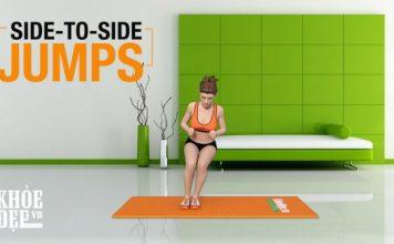 Bài tập giảm cân hiệu quả cho nữ trong 1 tháng với Side to Side Jumps