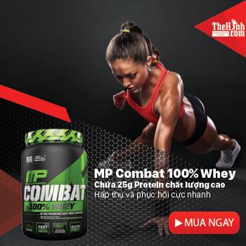 Sữa tăng cơ giảm mỡ MP Combat 100% Whey